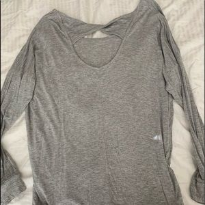 Basic grey long sleeve with cut out back
